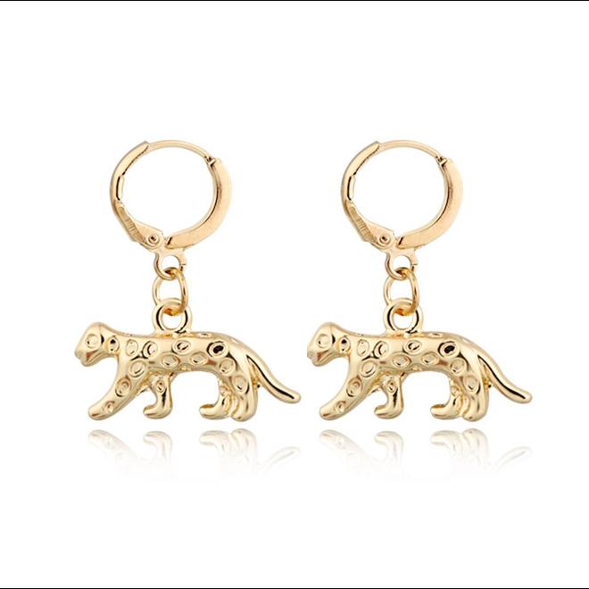Luipaard Oorringen | Animal Charms | Goudkleurig