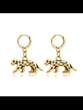 Fashion Favorite Luipaard Oorringen | Animal Charms | Goudkleurig / Zwart