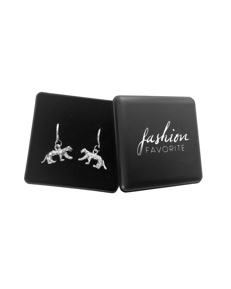 Fashion Favorite Luipaard Oorringen | Animal Charms | Zilverkleurig