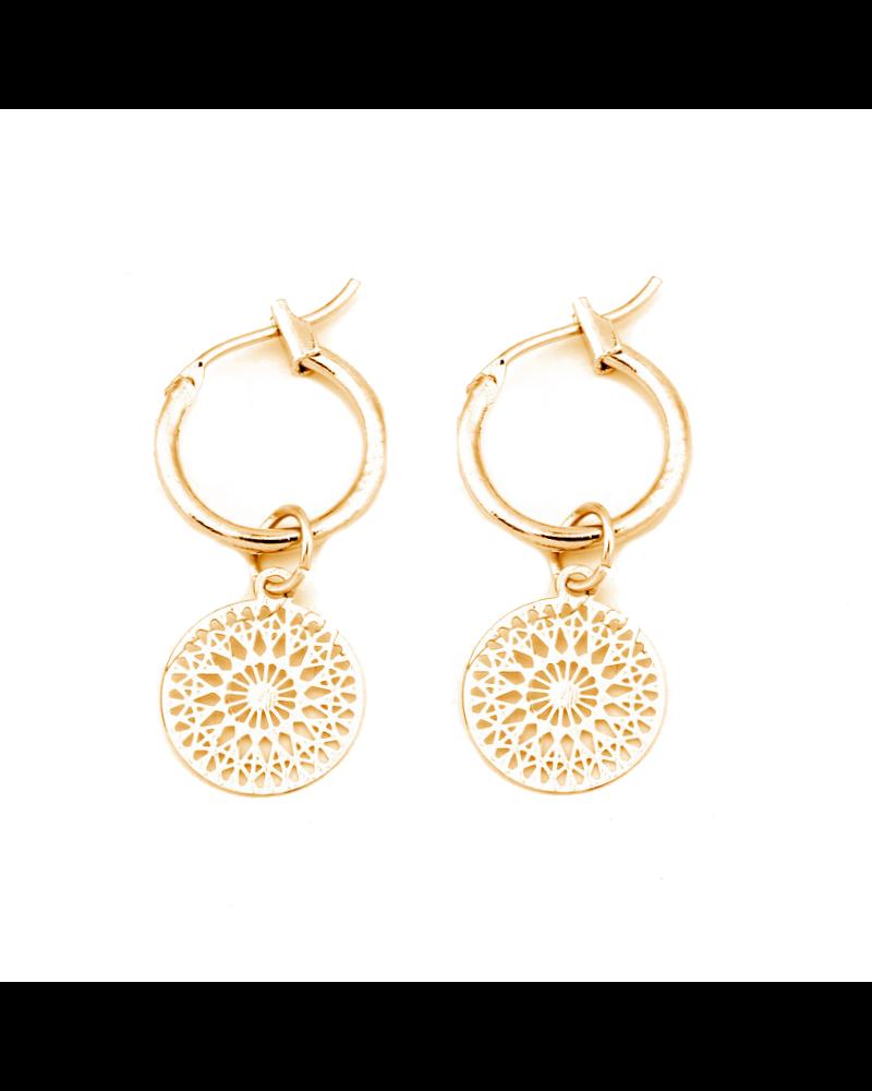 Fashion Favorite Mandala Oorringen | Musthave Munt Oorbellen | Goudkleurig