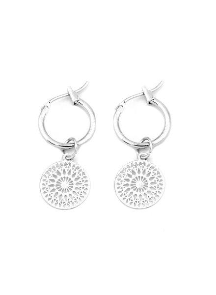 Fashion Favorite Mandala Oorringen | Musthave Munt Oorbellen | Zilverkleurig