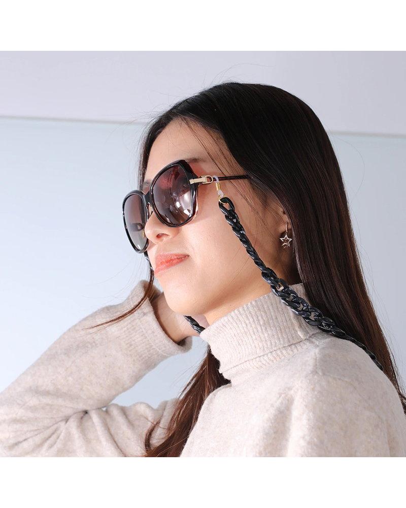 Fashion Favorite Zonnebril Ketting / Brillenkoord   Zilver   Acryl   70 cm