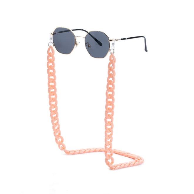Zonnebril Ketting / Brillenkoord | Pastel Roze | Acryl | 70 cm