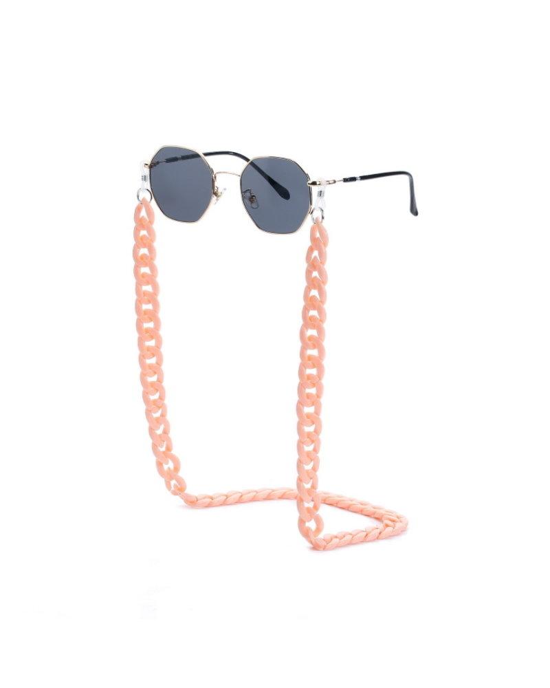 Fashion Favorite Zonnebril Ketting / Brillenkoord | Pastel Roze | Acryl | 70 cm