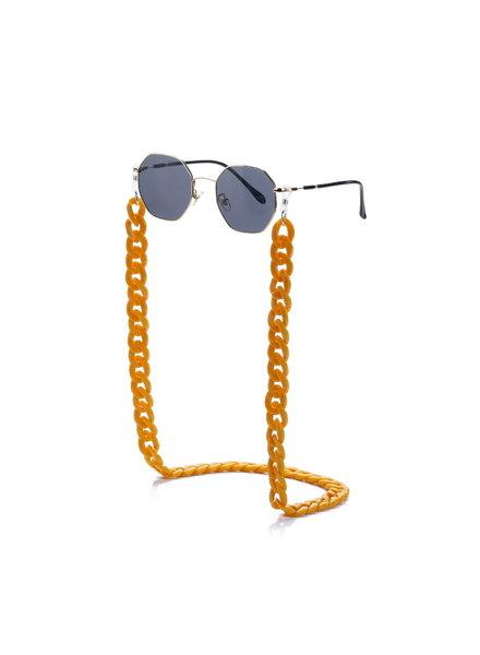 Fashion Favorite Zonnebril Ketting / Brillenkoord Oker Geel