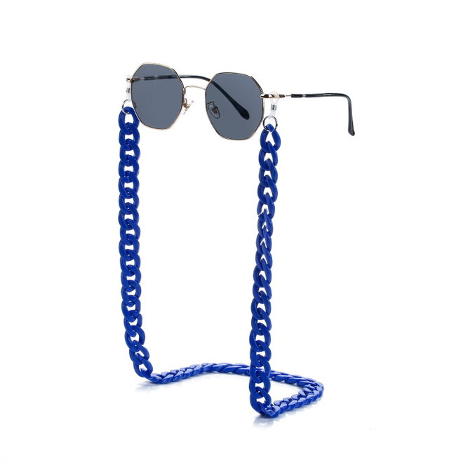 Zonnebril Ketting / Brillenkoord | Kobalt Blauw | Acryl | 70 cm