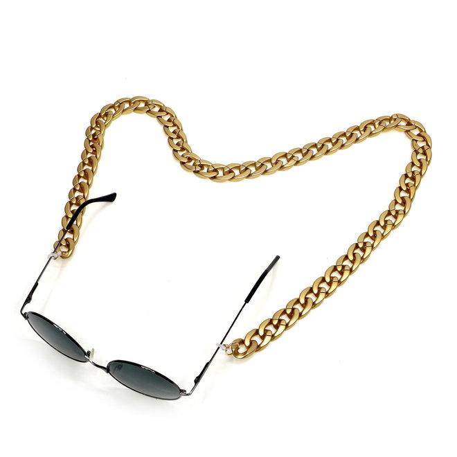 Zonnebril Ketting / Brillenkoord   Goud   Acryl   70 cm