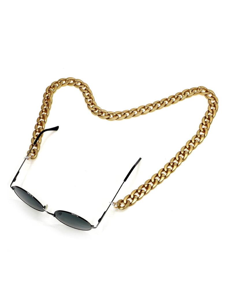 Fashion Favorite Zonnebril Ketting / Brillenkoord | Goud | Acryl | 70 cm