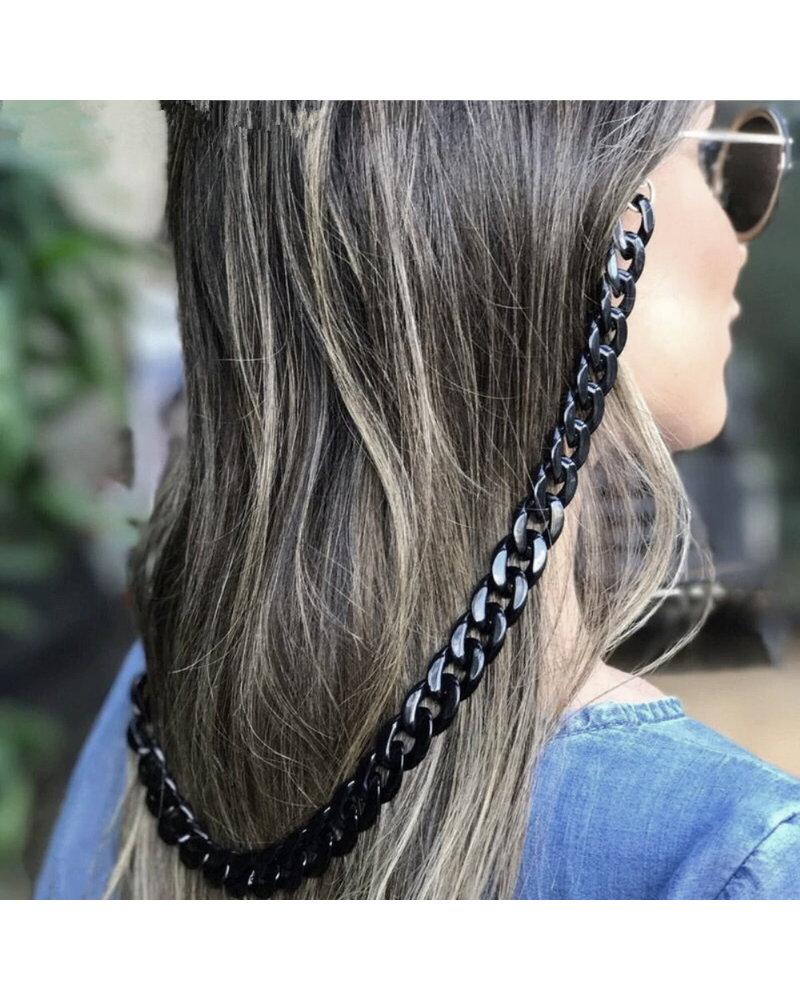 Fashion Favorite Zonnebril Ketting / Brillenkoord | Fuchsia Roze | Acryl | 70 cm