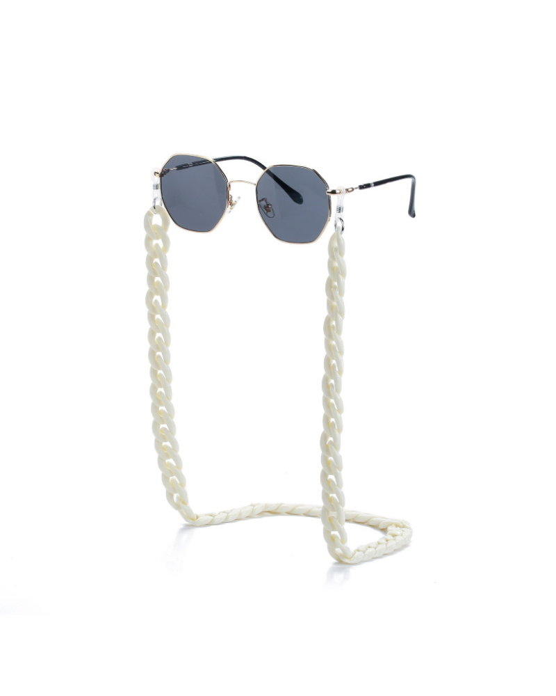 Fashion Favorite Zonnebril Ketting / Brillenkoord | Crème Wit | Acryl | 70 cm