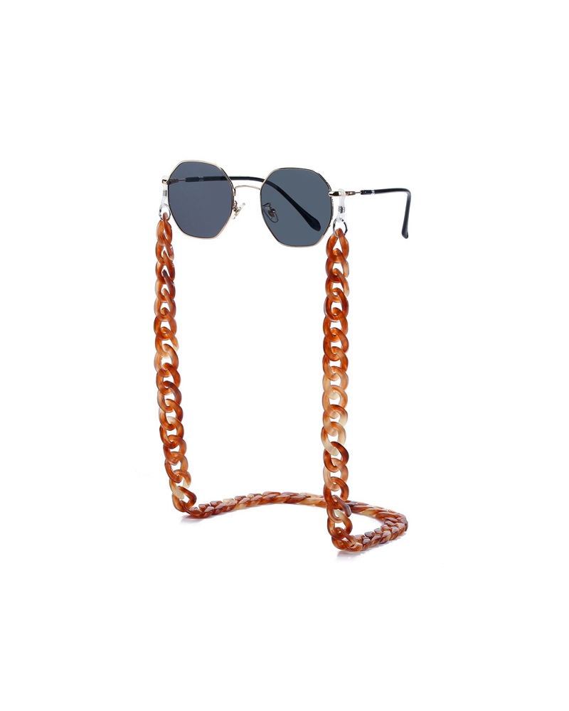 Fashion Favorite Zonnebril Ketting / Brillenkoord | Cognac Bruin | Acryl | 70 cm