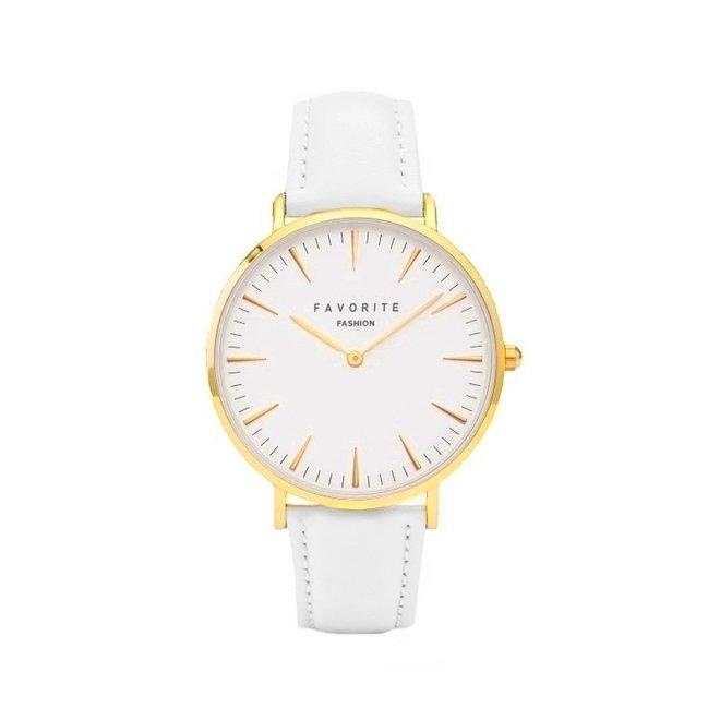 Vitória White / Gold 2.0 Horloge