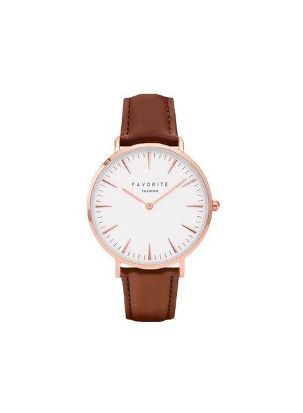 Favorite Fashion Vitória Cognac Brown 2.0 Horloge