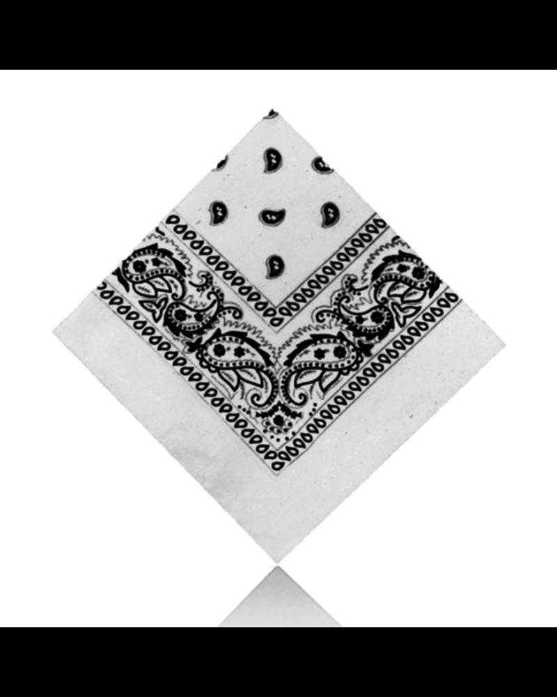 Fashion Favorite Vintage Bandana / Zakdoek Wit | Katoen | 55 x 55 cm