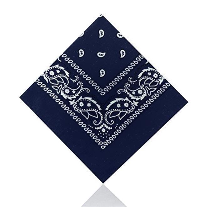 Vintage Bandana / Zakdoek Blauw | Katoen | 55 x 55 cm