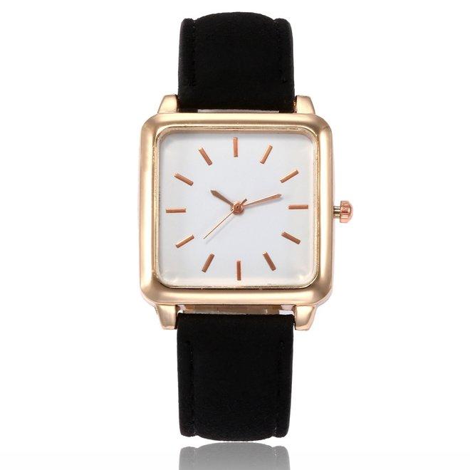 Vesper Square Horloge   Zwart / Wit