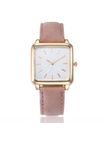 Fashion Favorite Vesper Square Horloge | Oudroze / Wit