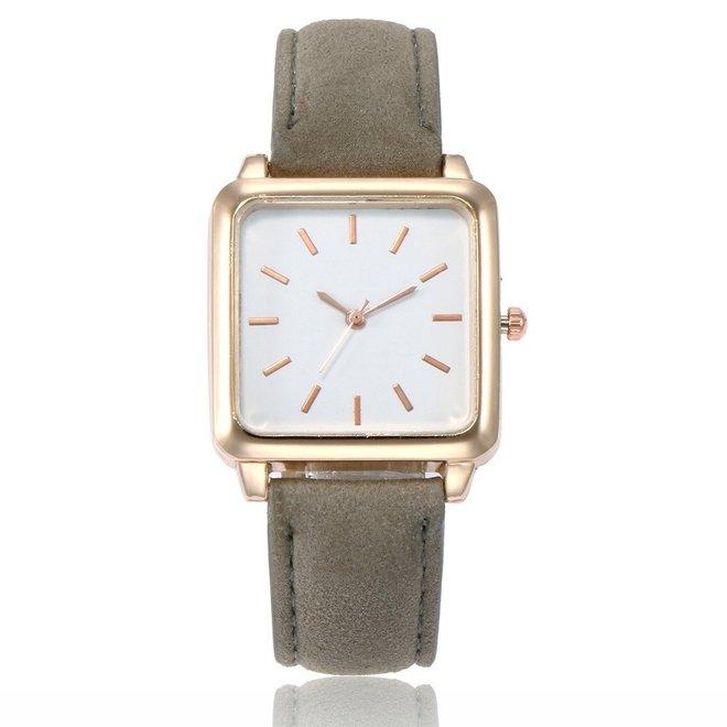 Vesper Square Horloge | Grijs / Wit