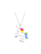 Fashion Favorite Unicorn Rainbow Ketting - Zilverkleurig