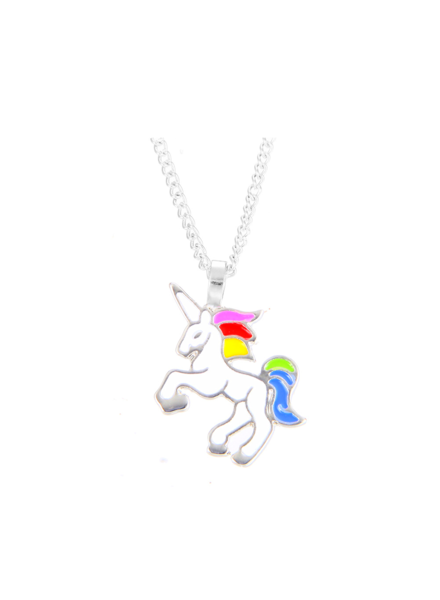 Fashion Favorite Unicorn Rainbow Ketting - Zilverkleurig