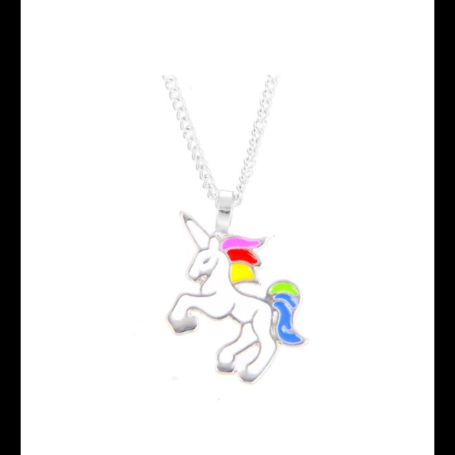 Unicorn Rainbow Ketting - Zilverkleurig