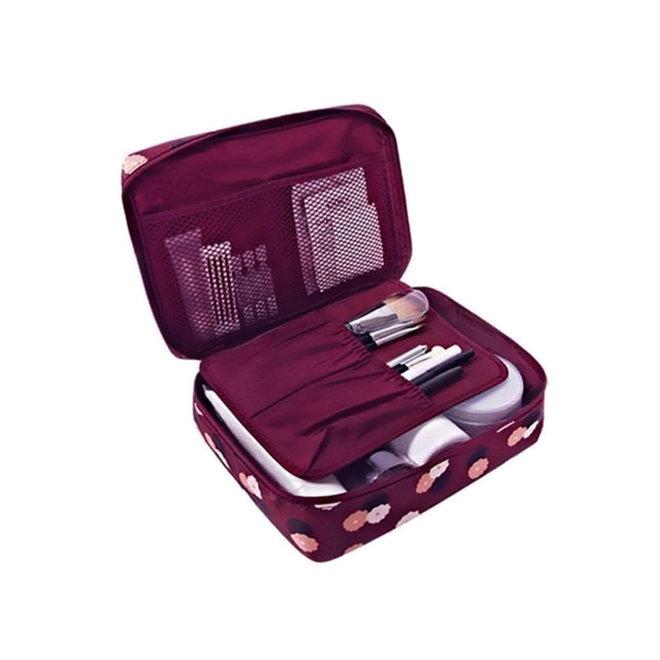 Travel 'Red Flower' Toilettas   Make Up Organizer/Travel Bag/Reistas