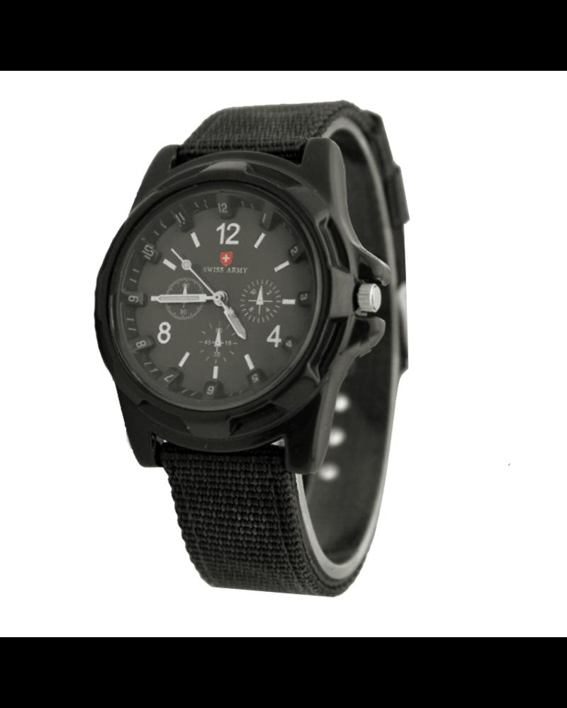 Fashion Favorite Swiss Army Horloge Zwart | Nylon | Ø 40 mm