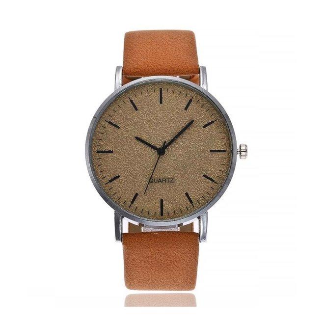 Stone Cognac Quartz Horloge