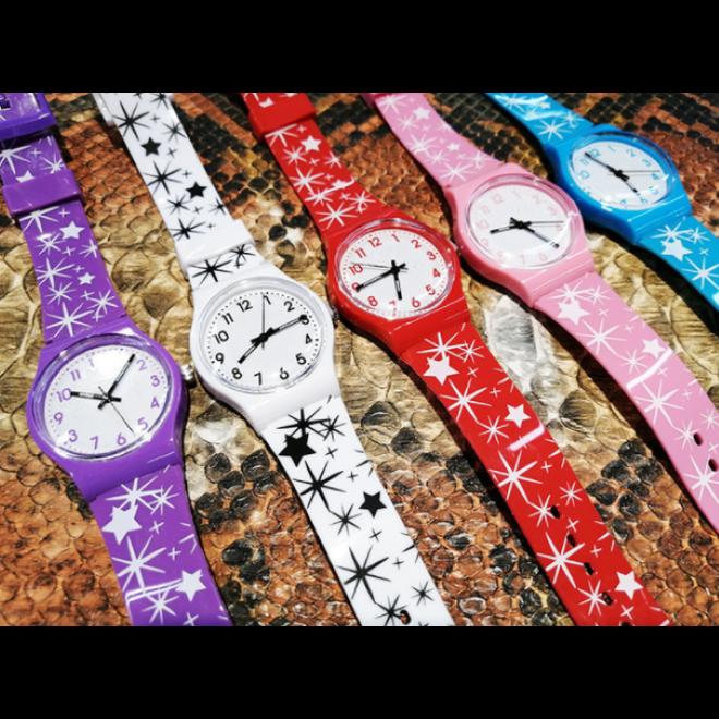 Star Kinderhorloge Roze | Sterren | Kunststof/Plastic