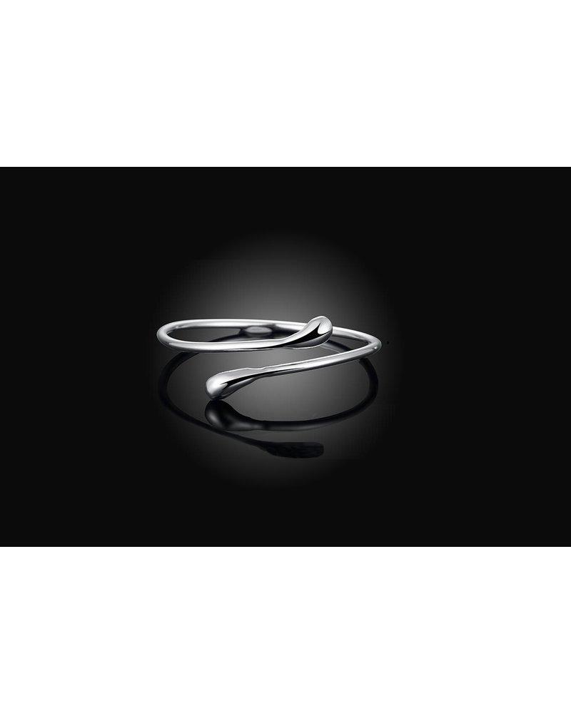 Fashion Favorite Silver Snake Armband | Bangle Zilverkleurig