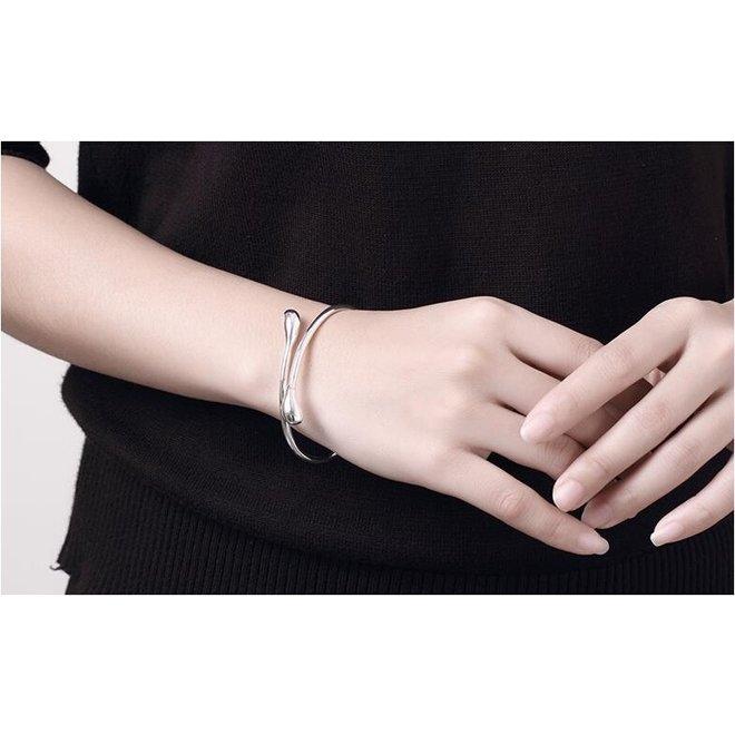 Silver Snake Armband | Bangle Zilverkleurig