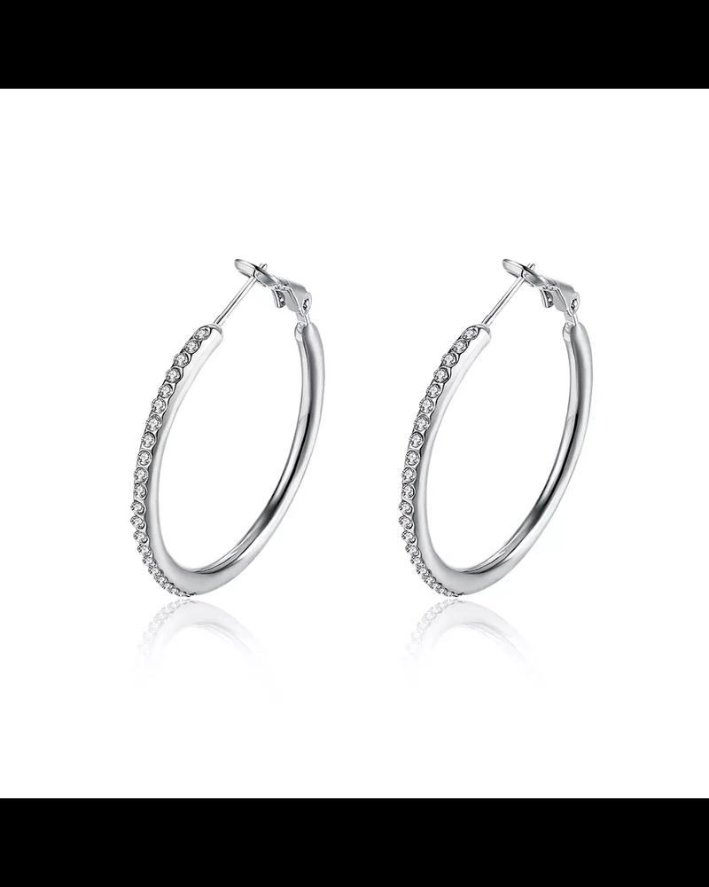 Fashion Favorite Oorbellen Zilverkleurig | Oorringen | 35 x 2 mm - Clipsluiting