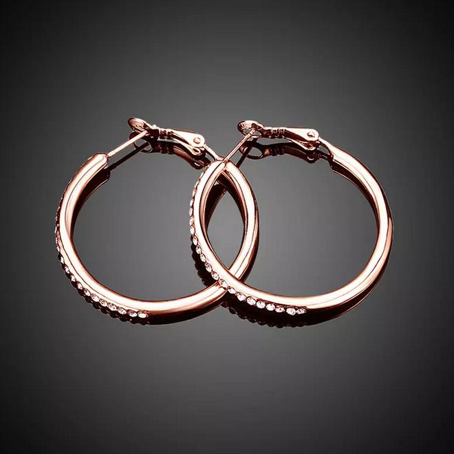 Oorbellen Rosekleurig | Oorringen | 35 x 2 mm - Clipsluiting