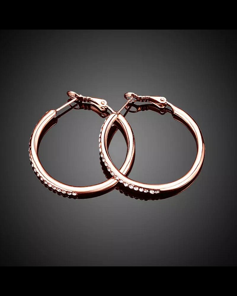 Fashion Favorite Oorbellen Rosekleurig   Oorringen   35 x 2 mm - Clipsluiting