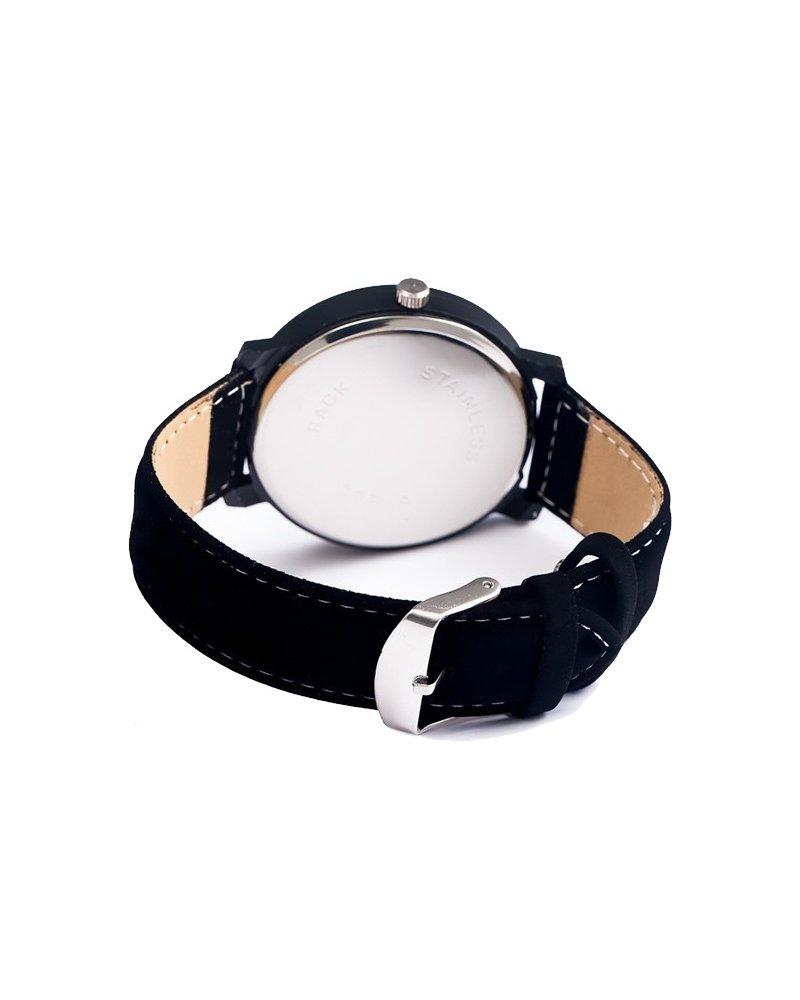 Fashion Favorite Pollock Roman Black Quartz Horloge | Zwart/Zwart | Kunstleder | Ø 45 mm