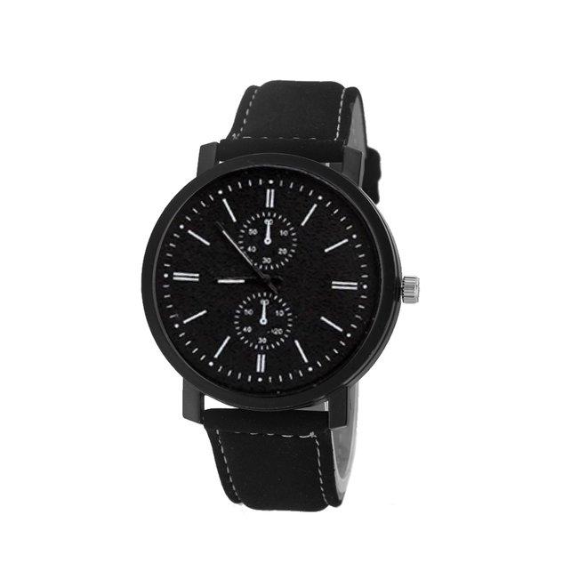 Pollock Black Quartz Horloge | Zwart/Zwart