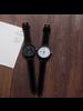 Fashion Favorite Pollock Black Quartz Horloge | Zwart/Zwart | Kunstleder | Ø 45 mm