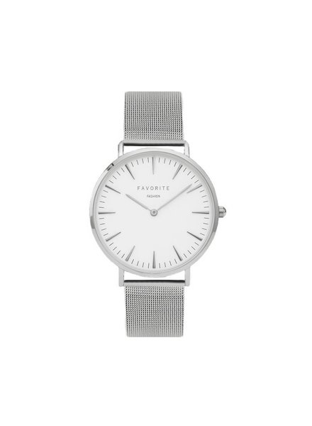 Favorite Fashion Navarra Silver Mesh Horloge