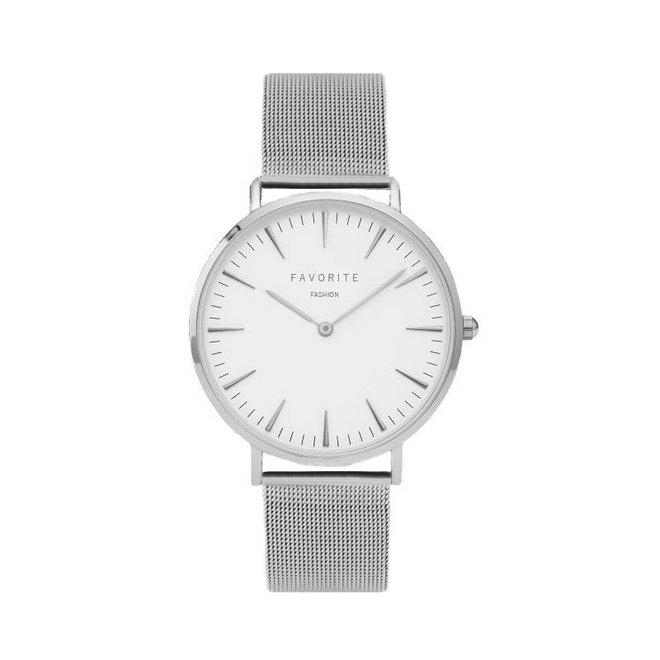 Navarra Silver Mesh Horloge