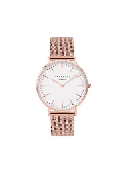 Favorite Fashion Navarra Rosegold Mesh 2.0 Horloge