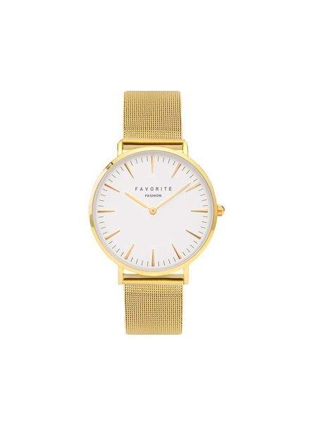 Favorite Fashion Navarra Gold Mesh 2.0 Horloge