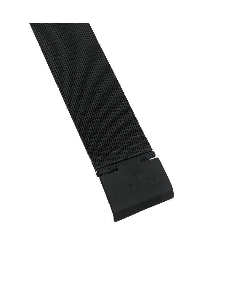 Favorite Fashion Navarra Gold / Black Mesh 2.0 Horloge | Goudkleurig & Zwart | Mesh band | Luxe Giftset/Cadeauset