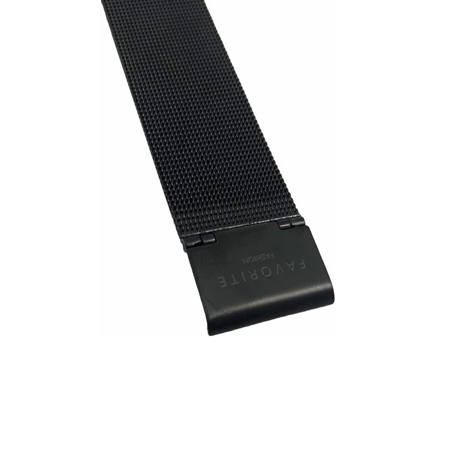 Navarra Full Black Mesh 2.0 Horloge   Zwart   Mesh band   Luxe Giftset/Cadeauset