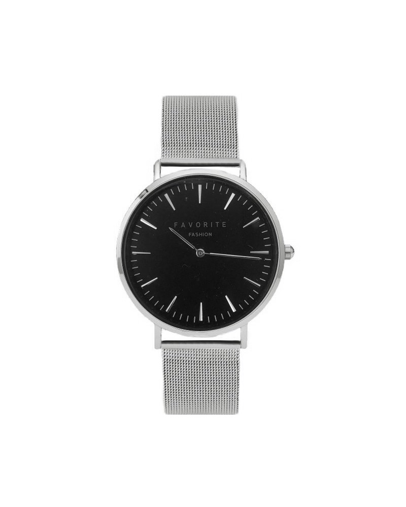 Favorite Fashion Navarra Black / Silver Mesh 2.0 Horloge | Zwart & Zilverkleurig | Mesh band | Luxe Giftset/Cadeauset
