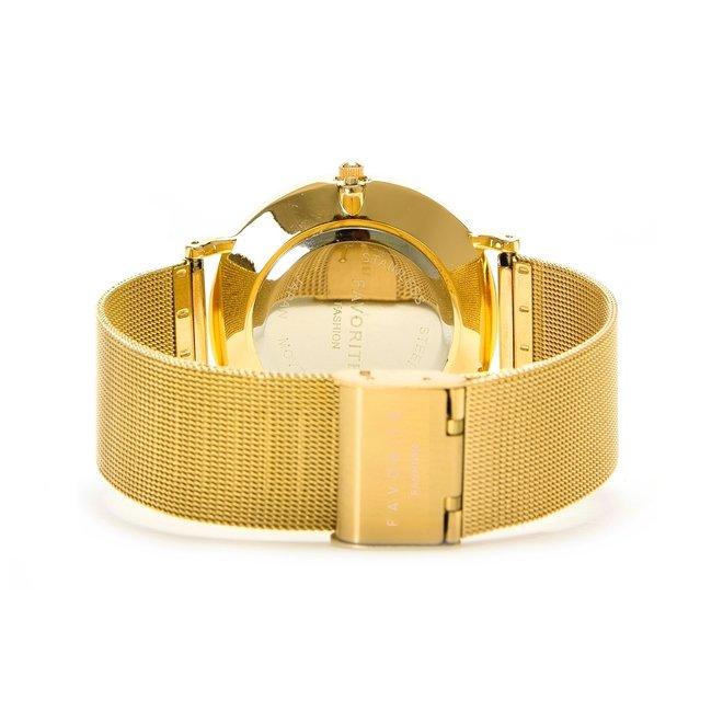Navarra Black / Gold Mesh 2.0 Horloge | Zwart & Goudkleurig | Mesh band | Luxe Giftset/Cadeauset