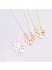 Fashion Favorite Monstera Blad / Palm Leaf Ketting | Rosekleurig | 45 cm
