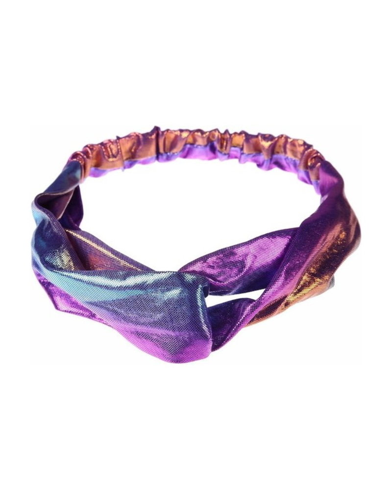 Fashion Favorite Metallic Cross Haarband / Hoofdband   Polyester   Zeemeermin / Mermaid