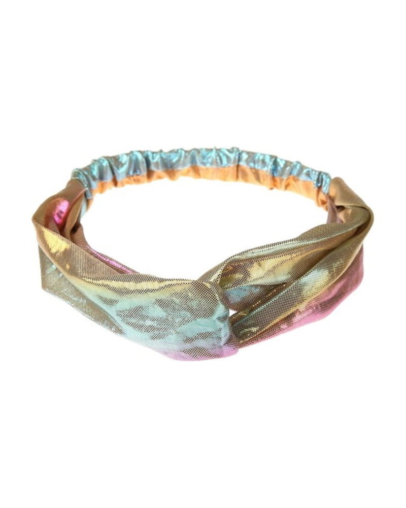 Fashion Favorite Metallic Cross Haarband / Hoofdband | Polyester | Regenboog / Rainbow