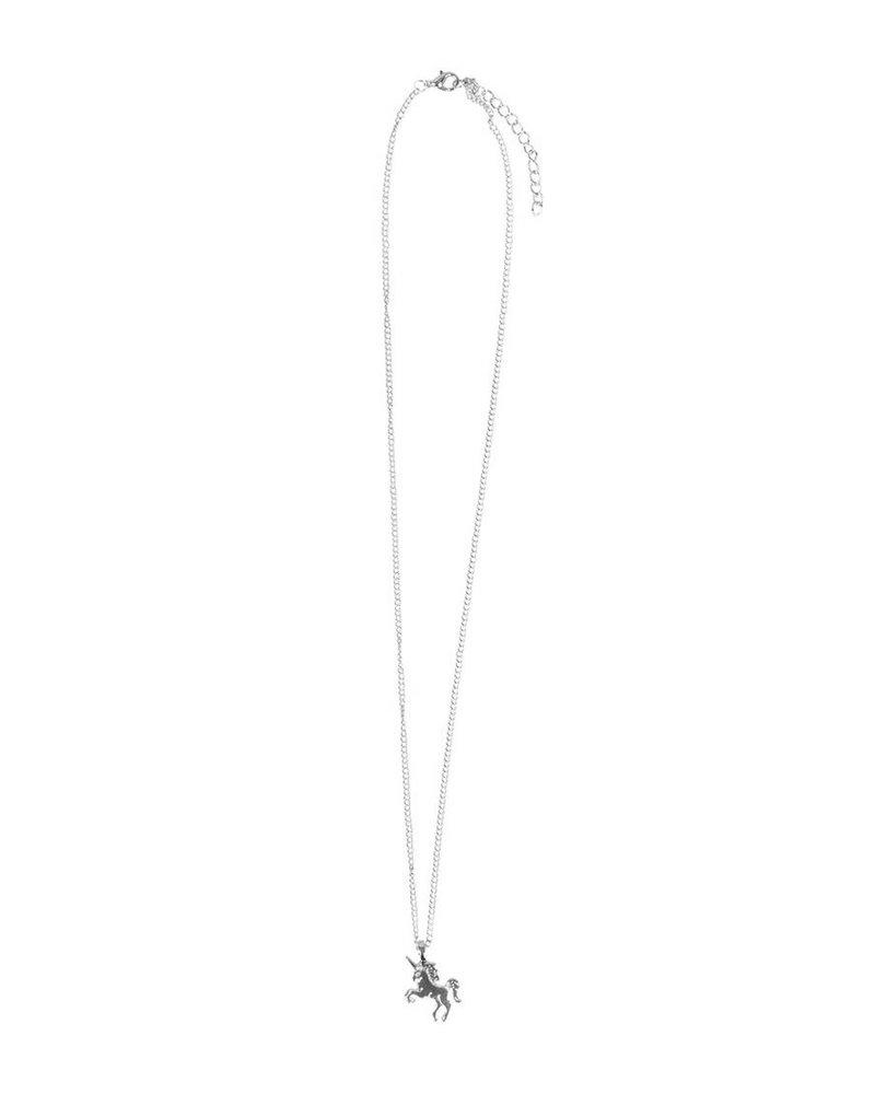 Fashion Favorite Magical Unicorn Ketting - Zilverkleurig - Magische Eenhoorn Hanger -