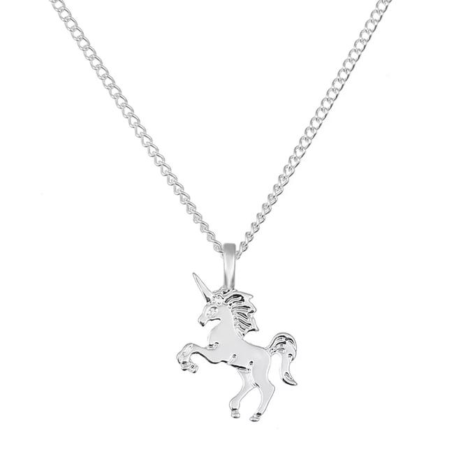 Magical Unicorn Ketting - Zilverkleurig - Magische Eenhoorn Hanger -